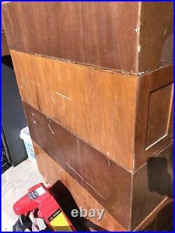 1 Qty 5 Drawer Vintage SOLID OAK Mayfield FLAT FILE-MAP-BLUEPRINT CABINET