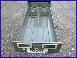 10 Drawer Card Catalog Cabinet Vintage Steel All-Steel Equipment Inc