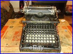 1908 Smith Premier No#10 Typewriter Functional Vintage Antique #24707 Serial#