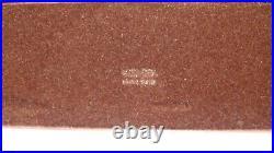 1980s Rare Vintage Mark Cross Executive Mahogany Desk Pad