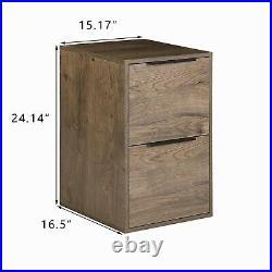 2 Drawer File Cabinet Wood File Cabinet Vertical File Cabinet for Letter Size