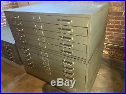 24 X 37 Cole Flat Files Flatfile 10 Drawer Unit Blueprint Art Map Storage