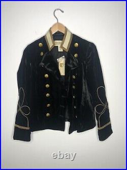 $245 New Denim & Supply Ralph Lauren Black Band Jacket RRL Military Officer VTG
