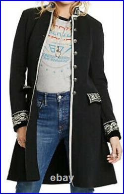 $395 New Denim & Supply Ralph Lauren Black Band Jacket RRL Military Officer VTG