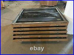 5 Drawer Metal Map Blueprint Flat Material File Cabinet 33-1/2 x 47-1/4