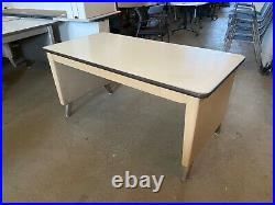 60Wx30Dx29H Vintage Writing Tank Table by Allsteel Office Furniture in Beige