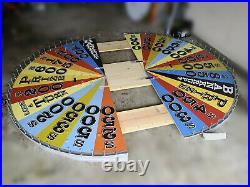 8 FT Wheel of Fortune Prize Wheel Custom Hand-Built Event, Decor, Retro Vintage