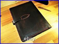 A4 Vintage Look Leather Journal, Personalized Name Diary. Book Cover Gift