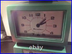 Acroprint Time Recorder Clock Manual Punch Industrual Office Vtg Working 125NR4
