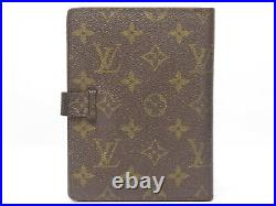 Authentic Louis Vuitton Monogram Vintage Day Planner Diary Note Cover 18630623