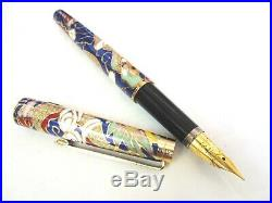 Beautiful Collectable Vintage Wing Sung Lucky Cloisonne Pen Set