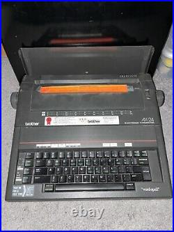 Brother AX-24 Vintage Portable Electronic Typewriter With Cover Black