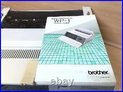 Brother WP-1 Word Processor & User Manual- Vintage, Fully Working 1980's