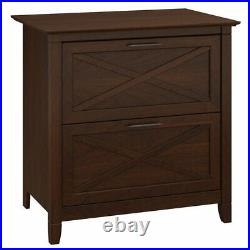 Bush Key West 2 Drawer Lateral File Cabinet in Bing Cherry