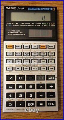 CASIO fx-61F Vintage Electric Formula 27 Scientific Calculator