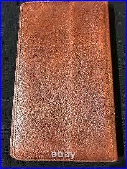 Filofax-3cl Slim-personal-brown Calf Leather-rare Vintage Sample Collector Model