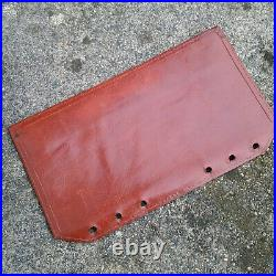 Filofax Compatible Vintage Brown Silky Soft Leather Personal Size Organiser