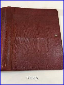 Filofax Deskfax Dx1 Clf 7/8 Ig-v Rare Vintage Burgundy Iguana Print Calf Leather