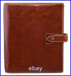 Filofax Malden A5 Organiser In Full Grain Buffalo Leather Vintage Ochre Brown
