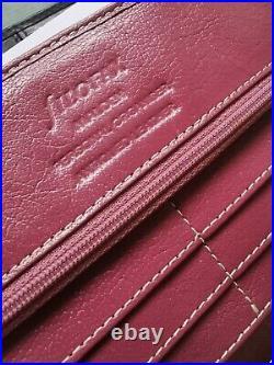 Filofax Malden vintage Pink personal size Antiqued leather organiser rare colour