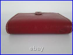 Filofax Pocket Size Organiser Rare Crimson Red Vintage Look Leather Unused Boxed