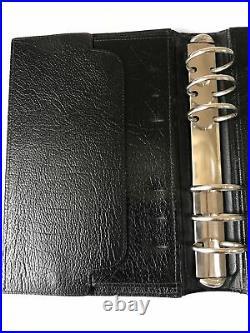 Filofax-balmoral 10clfj 5/4 Black Calf Leather-vintage Very Rare Collectors Item