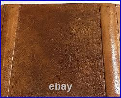 Filofax-duplex D2clf 7/8 Super Rare Vintage Cognac Calf Leather-collectors Item