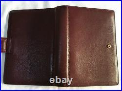 Filofax/organiser-lefax Westminster, Rare Vintage Soft Burgundy Grain Leather
