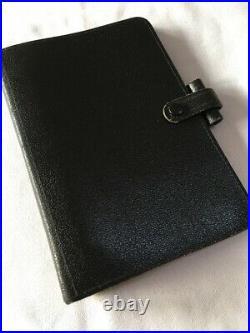 Filofax/organiser-rare Vintage 2mlf 7/8, Buckingham Black Moroccan Leather(a)
