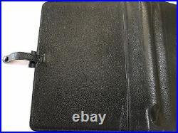 Filofax/organiser-richmond Deskfax 5/4 Rings-rare Vintage Black Grain Leather