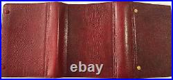 Filofax-very Rare Vintage 10clfj 5/4 Balmoral-luxury Burgundy Gloss Calf Leather