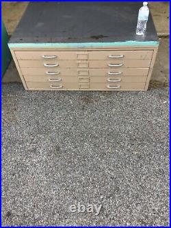 Flat File Art Blueprint Cabinet 10 Drawer Used beautiful Custom Aurora vintage