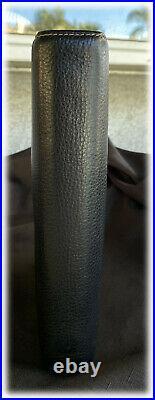 Franklin Covey CLASSIC Vintage Aurora BLACK Soft Leather Binder Planner