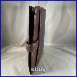Franklin Covey Vintage Aurora Burgundy Classic Leather Planner Binder New Rings