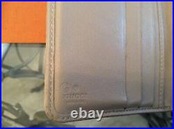 GUCCI GG Beige Guccisima Leather Coin Purse Clutch/Wallet Vintage