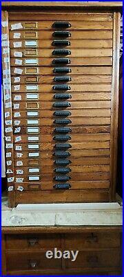 Golden Oak Filing Cabinet