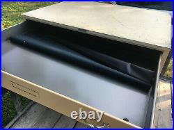 Hamilton Six Drawer Metal Flat File Cabinet 47L x 36W x 36H