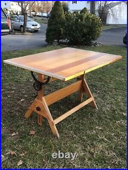 Hamilton Style Drafting Table Vintage 48w X 38h Tabletop
