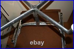 ^^ Herman Miller vintage Aluminum Group Foot Stool Ottoman -BROWN FABRIC(GW36)