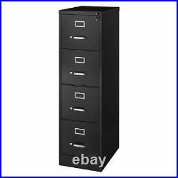 Hirsh 17892 15 W 4 Drawer Vertical File Cabinet, Black, Letter