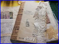 JUNK JOURNAL Vintage Lace Quilt Journal Shabby Chic Wedding Journal