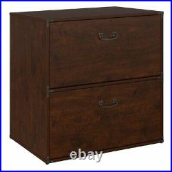 Kathy ireland Office Ironworks Lateral File Cabinet in Coastal Cherry