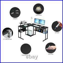 L-Shaped Desk Corner Computer Gaming Laptop Table Workstation Home Office Desk