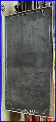 Large Vintage School Chalkboard Classroom Size 8 X 4 Aluminum Frame Used
