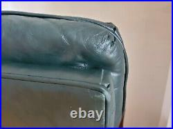 Local Pickup VTG Bradington Young Green Leather Executive Office Swivel Chair