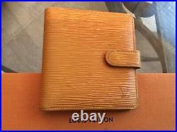 Louis Vuitton Medium Size Wallet Clutch EPI Yellow Authentic Vintage MI0997
