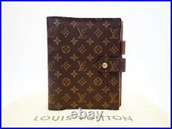 Louis Vuitton Monogram Agenda GM Day Planner Cover Diary R20006 Vintage Big