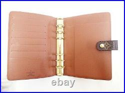 Louis Vuitton Monogram Agenda MM Day Planner Cover Diary R20004 Vintage