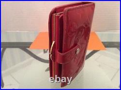 Louis Vuitton Porte Monaie Wallet Clutch Red Vernis MI0016 Authentic Vintage