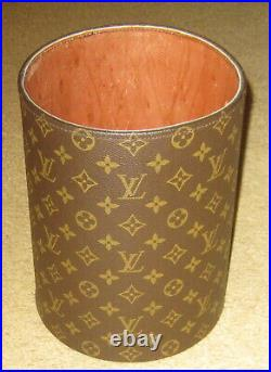 Louis Vuitton Rare Vintage Waste Basket Trash Can Desk Accessory From the 70's